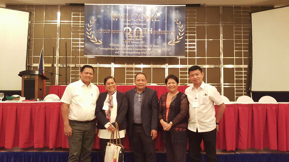 from left: University Director for Instruction Dr. Severino Romano, University Director for Quality Assurance Dr. Hedeliza A. Pineda, CTU President Dr. Rosein A. Ancheta Jr. , College of Education Dean Dr. Cecilia Elena P. delos Reyes, and Vice President for Academic Affairs Dr. Victor D. Villaganas