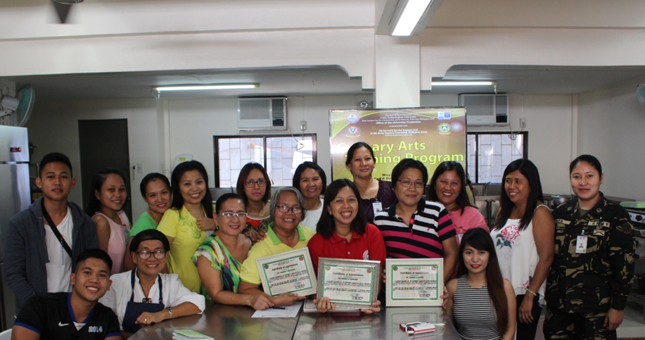 CTU personnel (holding certificates, front row) share expertise to members of the Army Support Command.